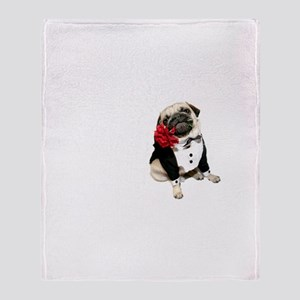 Stewie the Pug Throw Blanket