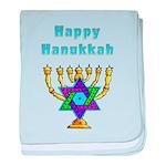 Happy Hanukkah baby blanket