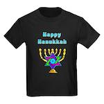 Happy Hanukkah Kids Dark T-Shirt