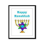 Happy Hanukkah Framed Panel Print