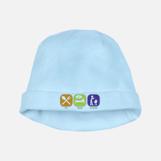 Eat Sleep Karaoke baby hat