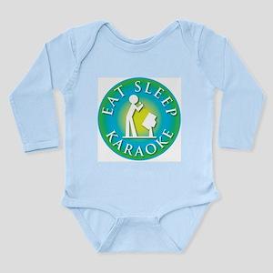 Eat Sleep KARAOKE Long Sleeve Infant Bodysuit