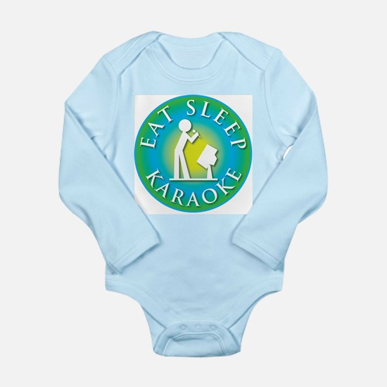 Eat Sleep KARAOKE Long Sleeve Infant Bodysuit