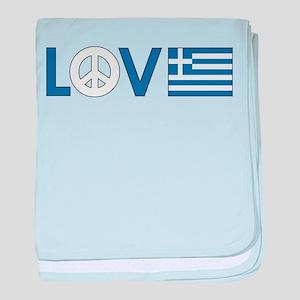 Love Peace Greece baby blanket