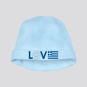 Love Peace Greece baby hat