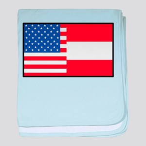 USA/Austria baby blanket