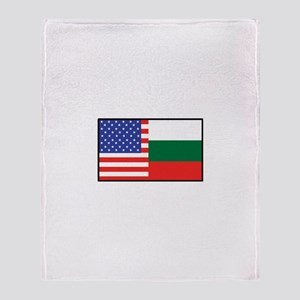 USA/Bulgaria Throw Blanket