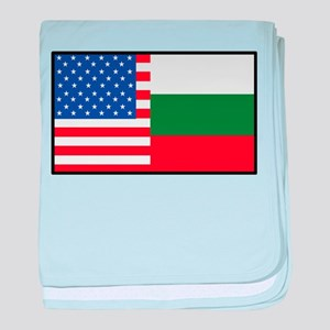 USA/Bulgaria baby blanket