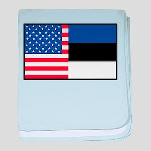 USA/Estonia baby blanket