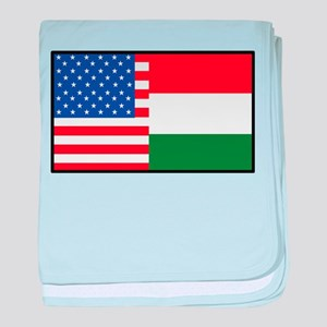 USA/Hungary baby blanket