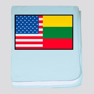 USA/Lithuania baby blanket