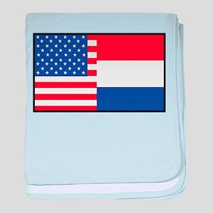 USA/Holland baby blanket