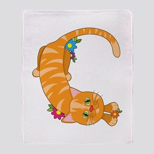 Animal Alphabet Cat Throw Blanket