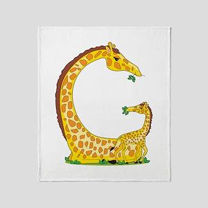 Animal Alphabet Giraffe Throw Blanket