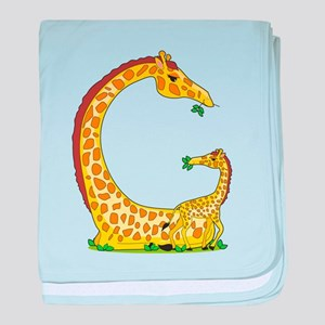 Animal Alphabet Giraffe baby blanket