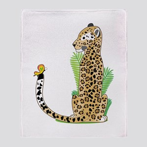 Animal Alphabet Jaguar Throw Blanket