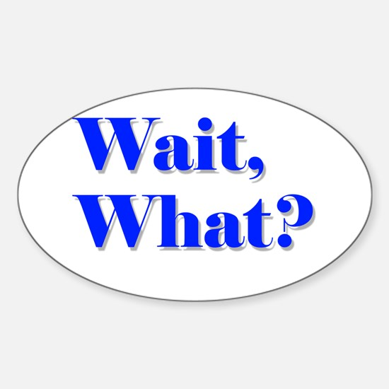 Wait, What? Sticker (Oval)