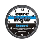 Cure Exclusion Wall Clock