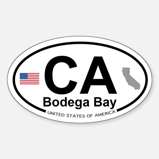 Bodega Bay Sticker (Oval)