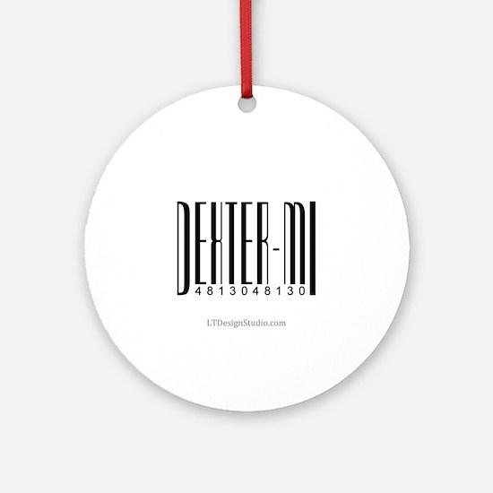 Dexter Bar Code Ornament (Round)