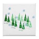 Evergreen Winter Tile Coaster