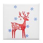 Reindeer Holiday Tile Coaster