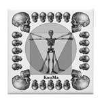 Leonardo da Skull Tile Coaster