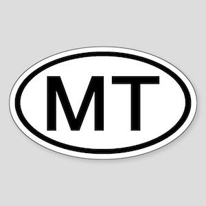 Montana - MT - US Oval Oval Sticker