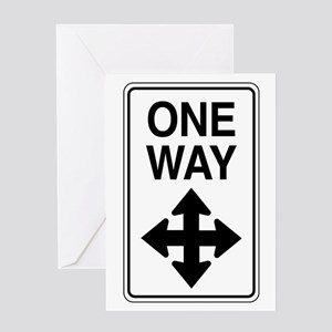 Road Sign Zen Greeting Card