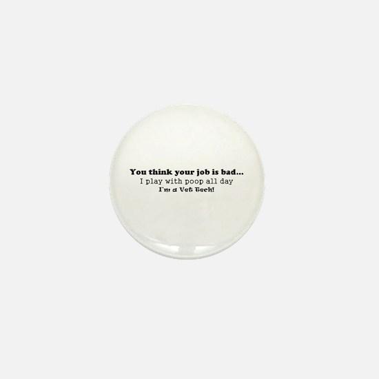 Cute Technician Mini Button