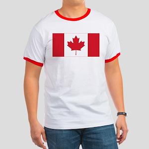 Canadian Flag Ringer T