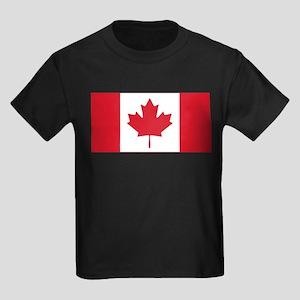 Canadian Flag Kids Dark T-Shirt