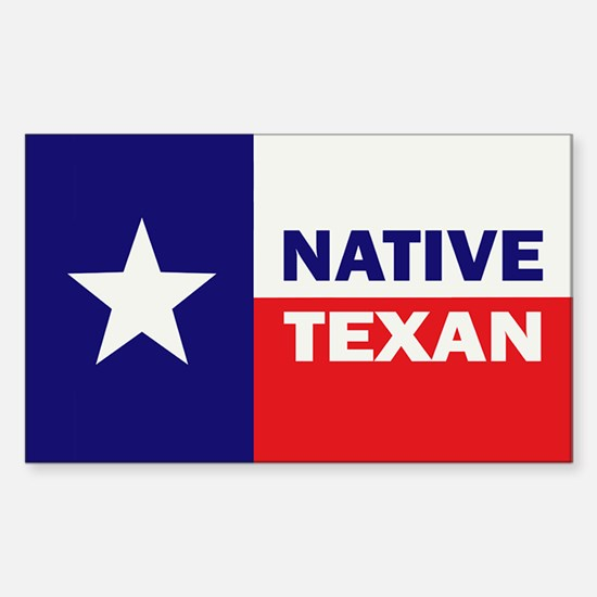 Native Texan Sticker (Rectangle)