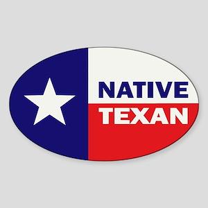 Native Texan Sticker (Oval)