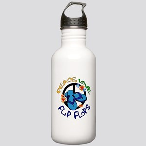peace, love, flip-flops Stainless Water Bottle 1.0