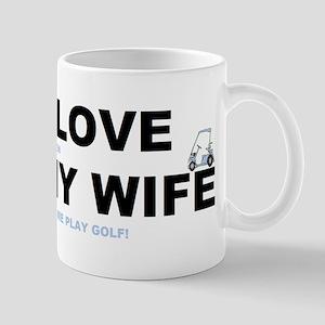 Golfing I love my wife Mug