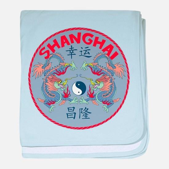 Shanghai Dragons baby blanket
