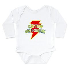 CAPTAIN ANTI-SOCIAL Long Sleeve Infant Bodysuit