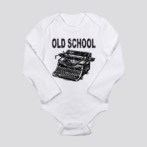 OLD SCHOOL TYPEWRITER Long Sleeve Infant Bodysuit