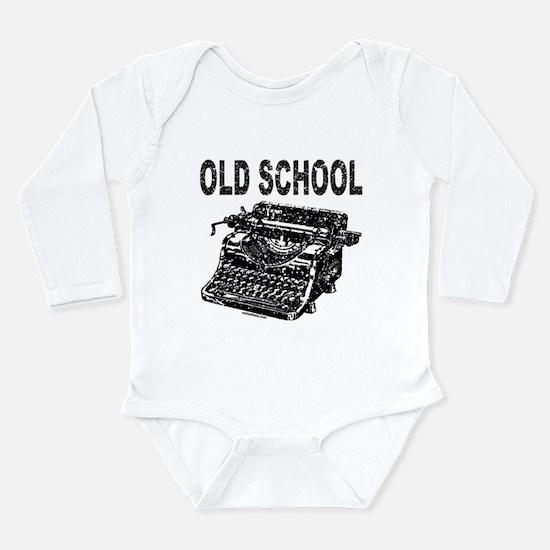 OLD SCHOOL TYPEWRITER Long Sleeve Infant Bodysuit