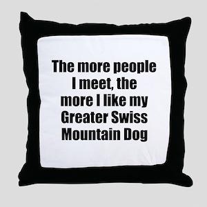 Greater Swiss Mountain Dog Throw Pillow