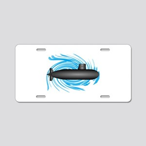 TO NEW DEPTHS Aluminum License Plate