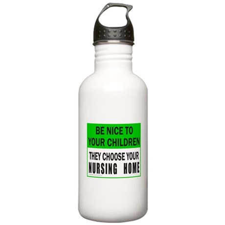 BE NICE TO YOUR CHILDLREN Stainless Water Bottle 1
