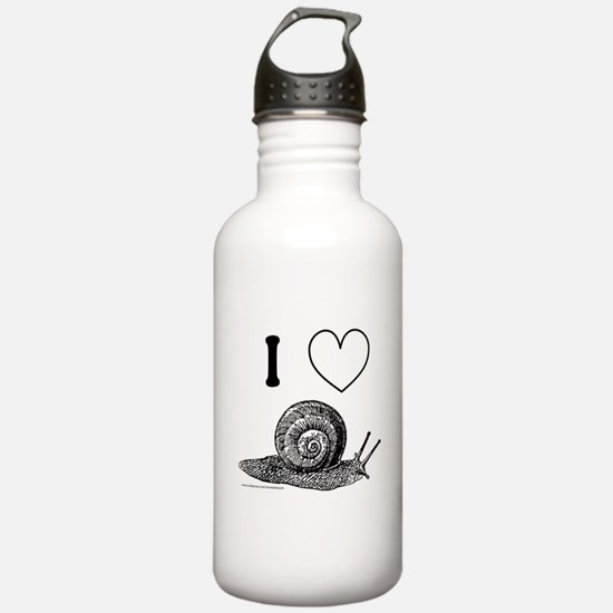 I HEART SNAILS Water Bottle