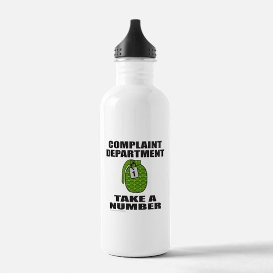 COMPLAINT DEPARTMENT Water Bottle