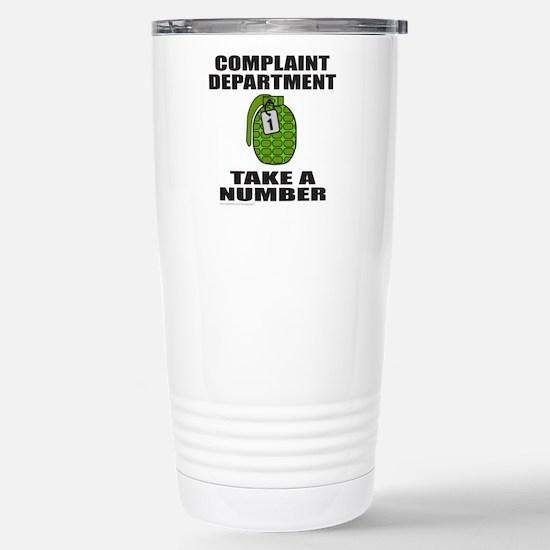 COMPLAINT DEPARTMENT Stainless Steel Travel Mug