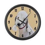 Bedlington Terrier Large Wall Clock