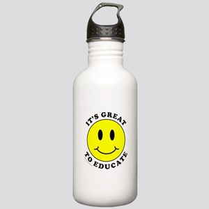 IT'S GREAT TO EDUCATE Stainless Water Bottle 1.0L