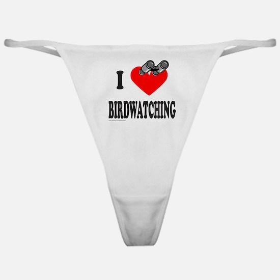 I HEART BIRDWATCHING Classic Thong