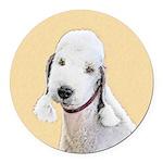 Bedlington Terrier Round Car Magnet